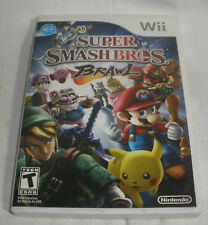 Wii Super Smash Bros Brawl game and case no Manual