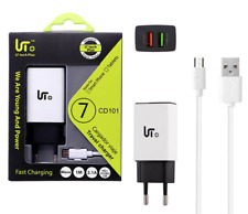 Kit Cargador de Red Micro USB Doble Carga Rapida + Cable