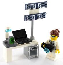 LEGO City Minifigur Raumfahrttechnikerin mit Labortisch aus Set 40345, NEU