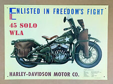 Harley-Davidson 45 Solo WLA - Tin Metal Wall Sign