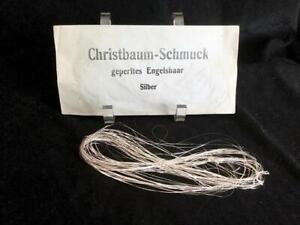 75' VINTAGE GERMANY CRINKLE SILVER TINSEL CHRISTMAS CHRISTBAUM LAMETTA German