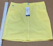 Nivo Women's Gelato Collection Marika Woven Skort Lemon Yellow Size 8 NWT #75139