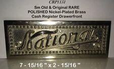 Rare Old Polished Nickel-Plated Brass Nat'l 216 Candy Cash Register Drawerfront
