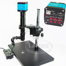 400X Coaxial Light C-mount Lens + HDMI USB Video Microscope Camera for PCB SMD A