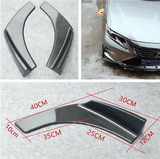 2x Car Carbon Fiber Surface Front Bumper Lip Protector Anti-Scratch Front Shovel