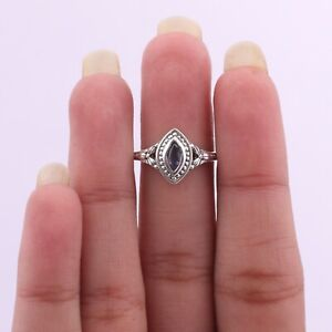 Kyanite Gemstone Jewelry Sterling Silver Solitaire Ring Size 6 For Women KB04482