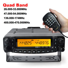 26/47/144/430 Mhz Quad Band Ham Fm Transceiver Mobile Car Radio 2/6/10M 70cm