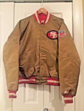 Vintage San Francisco 49ers Forty Niners Starter NFL Jacket Proline Red Gold XL
