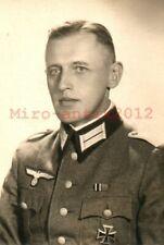 Foto, Wk2, Soldat mit EK im Portrait, Warschau Polen (N)21076
