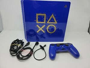 PlayStation 4 Slim (PS4) Days of Play Limited Edition Console and Controller