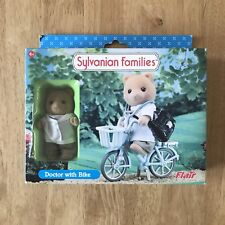 Sylvanian Families Retired Flair 4484 Doctor with Bike Set RARE HTF BNIB