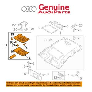 Genuine Overhead Lamp Assembly 4G0947135G6PS For Audi S7 S6 RS7 A7 A6 Quattro