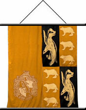 """HARRY POTTER Fantasy Movie HUFFLEPUFF CREST 22"""" x 32"""" FABRIC WALL SCROLL BANNER"""