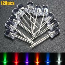 120Pcs 5mm White Red Blue Green Yellow Purple Water Clear Top LED Light Diodes