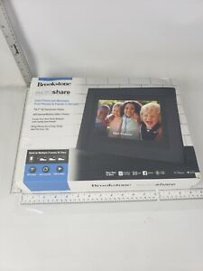 "Brookstone PhotoShare Friends and Family Smart Frame - 10.1"" - Black - NOB"