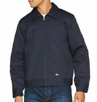 Dickies Men's Insulated Eisenhower Front-Zip Work Jacket in Navy - 3XL