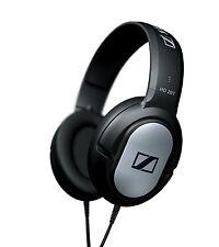 Cuffie auricolari stereo Over-Ear Nero e argento Design circumaurale cavo Jack