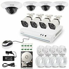 Security Camera System Vision Indoor Outdoor PoE NVR Surveillance Home Video