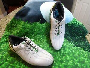 Footjoy FJ Sport Golf shoes Men SZ 12 M U.S.A. FLEX ZONE Platform White & Green