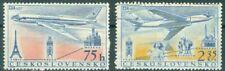 Czech 1957 Air Post - Opening Long Distant Flights Sc# C45-46