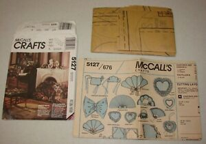 McCall's Crafts Pattern #5127 Victoria Style, Pillows, Fans, Hearts - Uncut