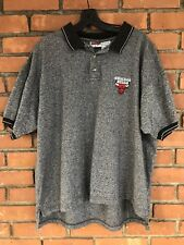 Vintage 1997 Chicago Bulls Polo Shirt Jordan Mens Large VTG 90s