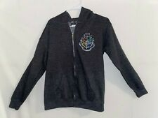 Universal Studios The Wizarding World Of Harry Potter Zip Up Hoodie Gray Sz YXL