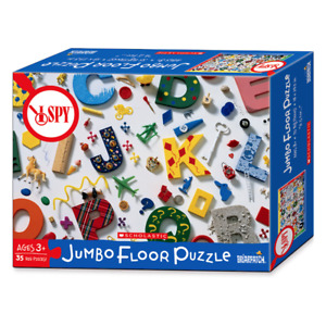"""I Spy """"A is for"""" ABC Jumbo Floor Puzzle by Briarpatch Multi Colour - Made in USA"""