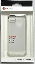 Griffin 605509-RVFB Reveal Case for iPhone SE/5/5S - Slim Clear Back Case