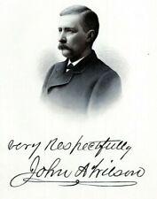 JOHN WILSON WILMINGTON DELAWARE History 1880s Portrait Steel Engraving Print