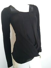 FORNARINA women's top blouse black size S
