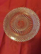 "Vintage Fostoria Crystal 1978 Plate ""1886-1978"" Center Avon Award Plate"