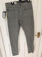 """Jack & Jones Pantalones Chinos Jeans Luna Niebla Botones Gris 28"""" Cintura 30"""" pierna pequeña Glenn"""