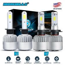New listing 4x H1+H7 Cree Led Headlight 3020W 453000Lm Hi-Lo Beam Combo Kit 6000K Lamp White