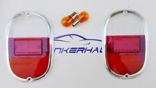 VW BUS T1 T2 A THING 181 FRIDOLIN 147 ITALIAN CLEAR/RED TAILLIGHTS LENSES