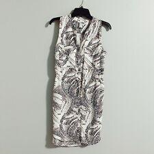 H&M Snake Print Button Up Shirt Dress Sz 8