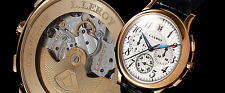 Leroy Osmior 18K Yellow Gold Automatic Guilloche Chronograph. Winner of GPHG!