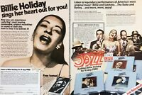 1981 Time Life Records Giants Of Jazz Billie Holiday Vintage Photo Print Ad