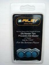 T7007F Pack of 3 Elk Master 9mm Tips for Snooker / Pool cues