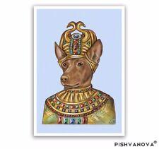 Pharaoh Hound Art Print-King of the Sun-Dog Wall Decoration-Egyptian Dog