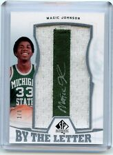 2013-14 SP Authentic Magic Johnson By The Letter Patch Auto /3
