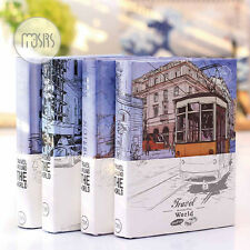 Mini Hard Cover Notebook Travel Diary Journal Schedule Ruler Grid Planner Book