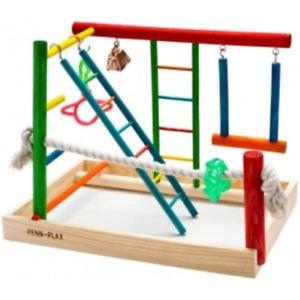 Bird Playground Gym Playpen Pet Wooden Activity Center Cockatiel Parakeet Toys
