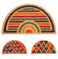 Zerbino COCCO antiscivolo 40x75 cm moderno tappeto mezza luna ingresso entrata