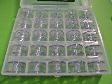 25 METALL SPULEN für Privileg AEG Lidl NECCI Nähmaschine in SPULENBOX