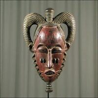 58141) Afrikanische Baule Holz Maske Elfenb.-küste Afrika KUNST
