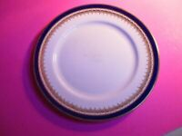 "Aynsley ""Embassy Cobalt"" blue Gold china  8-1/8"" Salad Plate, Smooth Edge"