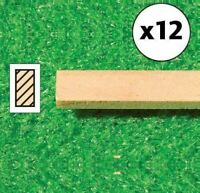 1/12 Scale Dolls House Emporium Pack of 12 Timber Lengths Wooden Strips, 5976