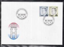 MÜ 1 ) Luxemburg Luxembourg FDC 2003 - Dauermarken: Großherzog Henri