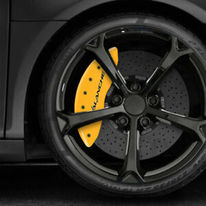 Yellow MGP Caliper Covers w/Avalanche for 2007-2013 Chevy Avalanche [Set of 4]